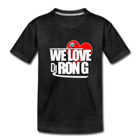 WE LOVE DJ RON G Kids' Premium T-Shirt - charcoal gray