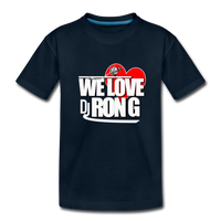 WE LOVE DJ RON G Kids' Premium T-Shirt - deep navy
