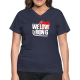 Women's WE LOVE DJ RON G V-Neck T-Shirt - navy