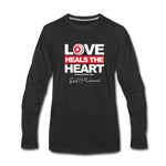 Love HEALS The Heart Premium Long Sleeve T-Shirt - black