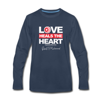 Love HEALS The Heart Premium Long Sleeve T-Shirt - navy