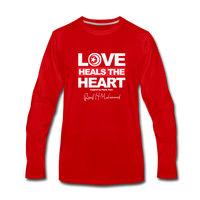 Love HEALS The Heart Premium Long Sleeve T-Shirt - red