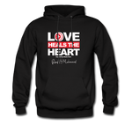 Love HEALS The Heart  Hoodie - black