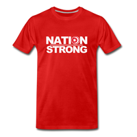 Nation Strong Premium T-Shirt - red