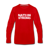 Nation Strong Premium Long Sleeve T-Shirt - red