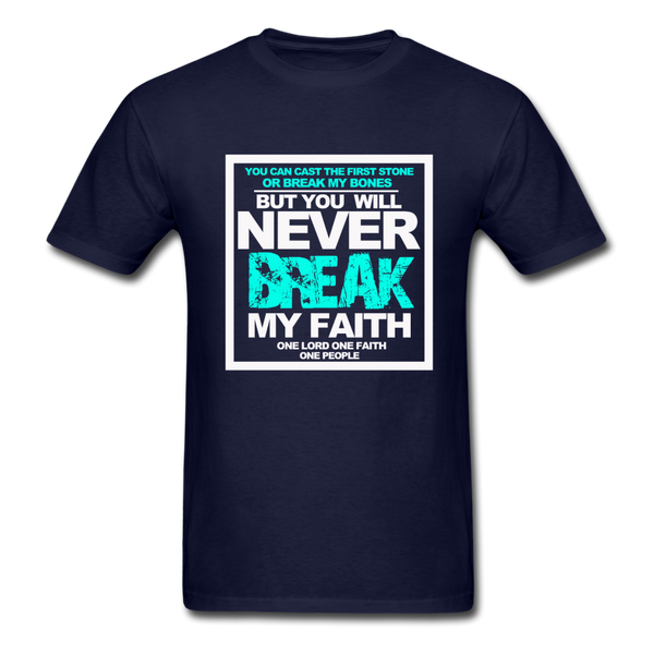 NEVER BREAK MY FAITH T-Shirt - navy