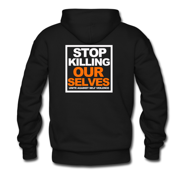 STOP KILLING OURSELVES Premium Hoodie - black
