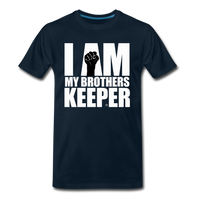 I AM MY BROTHERS KEEPER Premium T-Shirt - deep navy