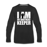 I AM MY BROTHERS KEEPER Premium Long Sleeve T-Shirt - black
