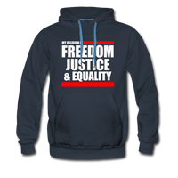 MY RELIGION IS Premium Hoodie - navy