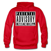 I HAVE NO CHILL Heavy Blend Adult Hoodie - red