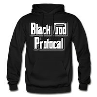 BLACK GOD PROTOCAL Heavy Blend Adult Hoodie - black