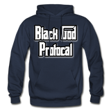 BLACK GOD PROTOCAL Heavy Blend Adult Hoodie - navy