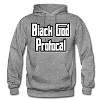 BLACK GOD PROTOCAL Heavy Blend Adult Hoodie - graphite heather