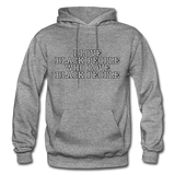 I LOVE BLACK PEOPLE  Heavy Blend Adult Hoodie - graphite heather