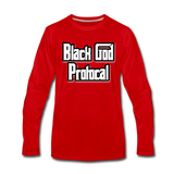 BLACK GOD PROTOCAL Premium Long Sleeve T-Shirt - red