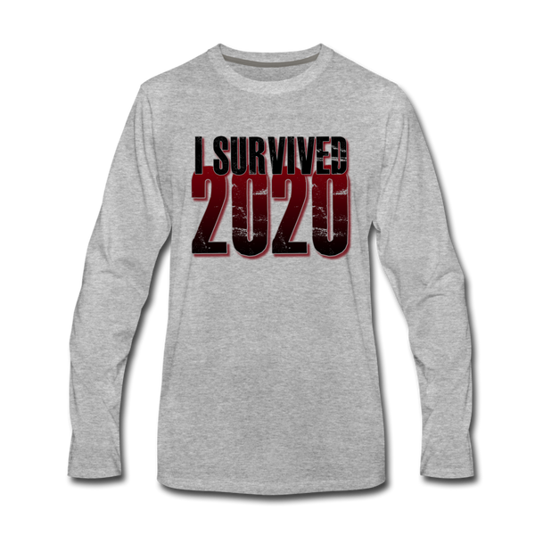 I SURVIVED 2020 Premium Long Sleeve T-Shirt - heather gray