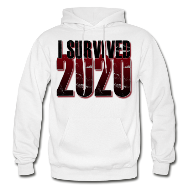 I SURVIVED 2020 Heavy Blend Adult Hoodie - white