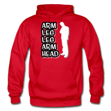 ALLAH Heavy Blend Adult Hoodie - red