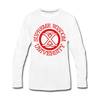 SUPREME WISDOM UNIVERSITYPremium Long Sleeve T-Shirt - white