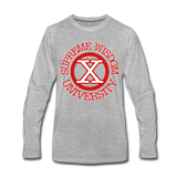 SUPREME WISDOM UNIVERSITYPremium Long Sleeve T-Shirt - heather gray