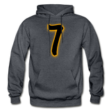 SEVEN Heavy Blend Adult Hoodie - charcoal gray