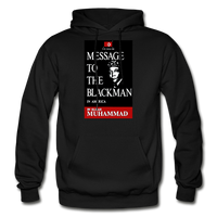 MESSAGE TO THE BLACKMAN Heavy Blend Adult Hoodie - black