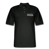 DIGITAL REAL ESTATE ADVISOR Pique Polo Shirt - black