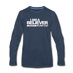 I AM A BELIEVER IN ONE GOD Premium Long Sleeve T-Shirt - navy