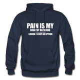 PAIN IS MY BIGGEST BLESSING Heavy Blend Adult Hoodie - navy