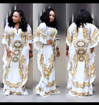 Casual loose women summer dashiki elastic big dress
