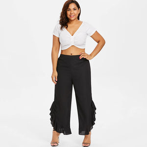 Wide Leg Capri Womens Pants