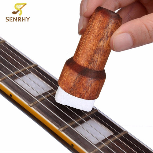 Wooden Brown Guitar/Bass String Cleaner