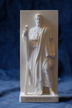 Load image into Gallery viewer, Marble Resin Relief Statuette of the Apostle Andrew designed by White Stone: Italian Sculpting & Fine Arts Studio