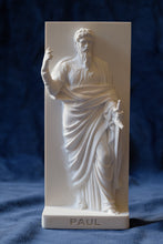 Load image into Gallery viewer, Marble Resin Relief Statuette of the Apostle Paul designed by White Stone: Italian Sculpting & Fine Arts Studio