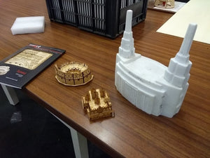 Size reference (not actual 3D Temple Image)