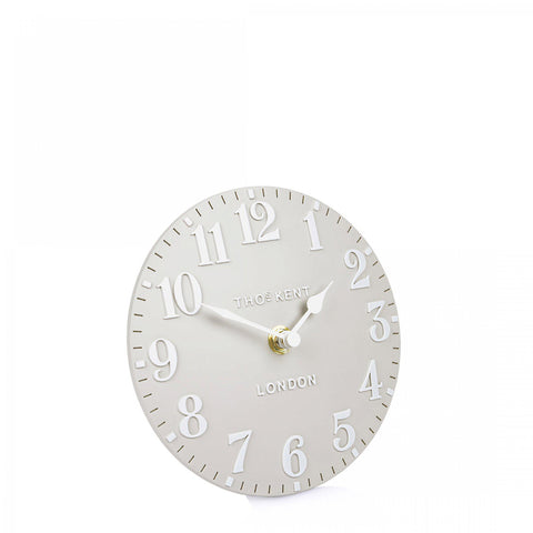 "6"" Arabic Mantel Clock Dove Grey"