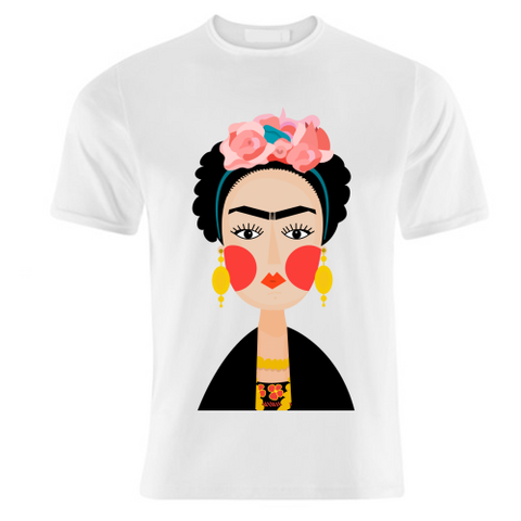 Designer Ladies T- Shirt SIMPLY FRIDA A GORGEOUS GRAPHIC ILLUSTRATION