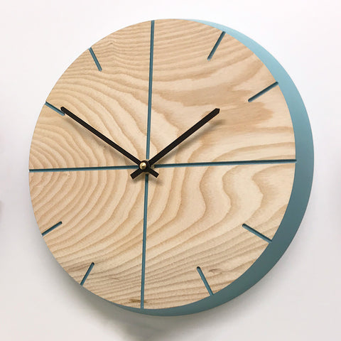 Wall Clock -Ocean Blue - Contemporary- Handmade- Wooden.