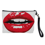 Trendy Red Lips Cosmetic Bag