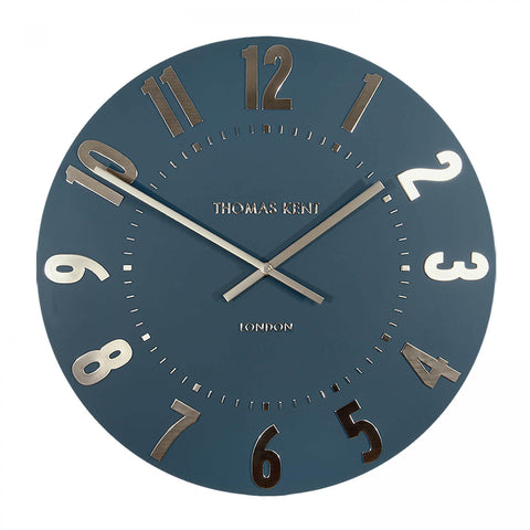 "20"" Contemporary,Glamorous Midnight Blue Clock"