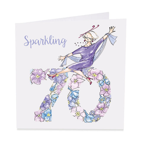 Sparkling 70  Fun Birthday Card