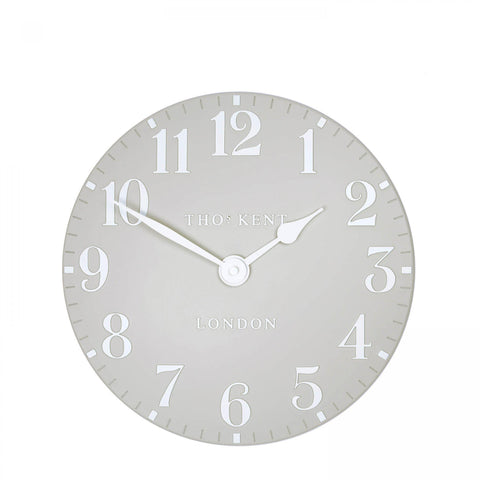 "12"" Contemporary Stylish  Arabic Wall Clock Dove Grey"