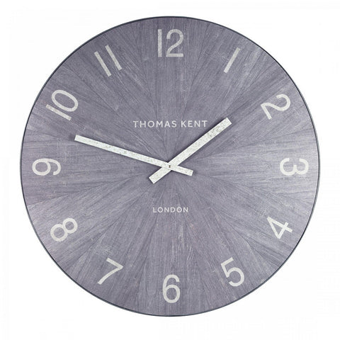 "30"" Contemporary Stylish Wharf Wall Clock Limestone"