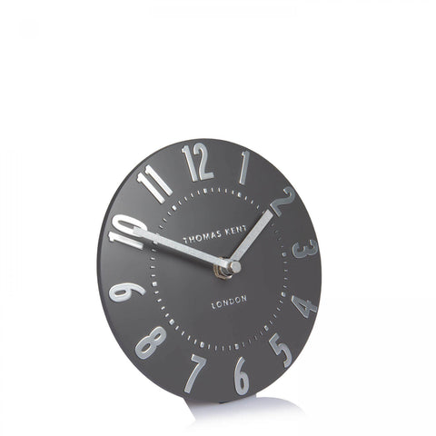 "6"" Arabic Mantel Clock Graphite Silver"