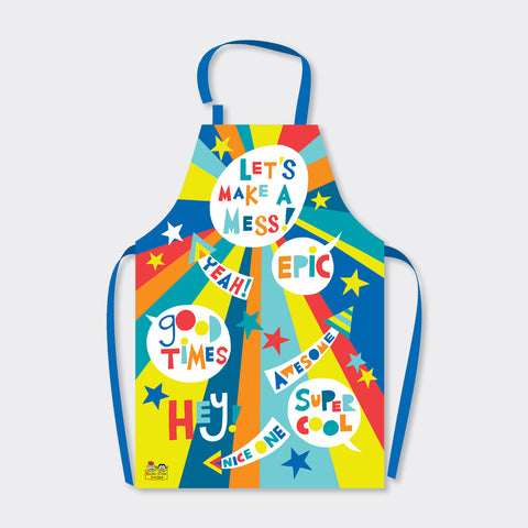 Brightly Coloured - Children's Apron -Let's Make A Mess - Perfect Gift