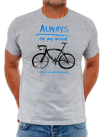 Cotton T-Shirt For Men   -  Very Popular With Cyclists - Always On My Mind