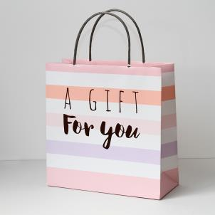 Luxury GiftBag-Large-Pastel Pink Stripe