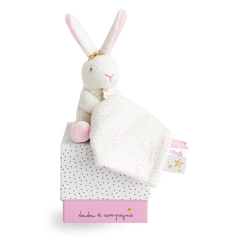 Soft Doudou Flower Bunny with Comforter.
