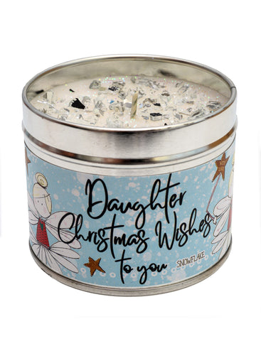 Christmas Seasonal Candle - Daughter Christmas Wishes To You